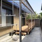 テラス屋根とウッドデッキ取付 神奈川県 横浜市