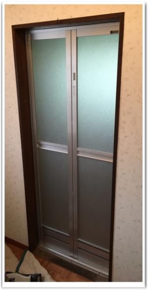 施工後 浴室ドア