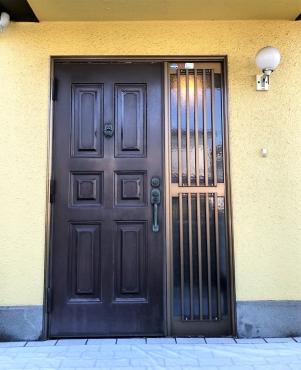 施工前 玄関ドア