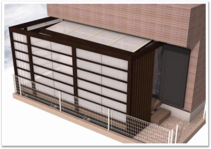 神奈川県横浜市 エクステリア テラス・ウッドデッキ取付工事 パース1