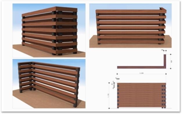 フェンス デザインパース